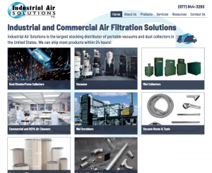 Industrial Air Solutions Home page