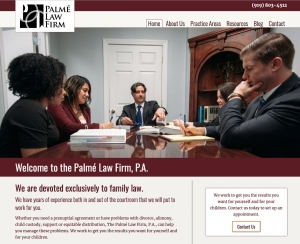 Palme Law Firm's Home page