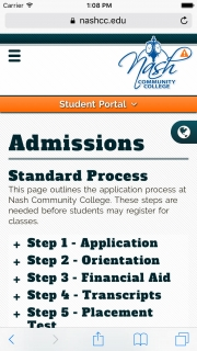 Nash Admissions Mobile