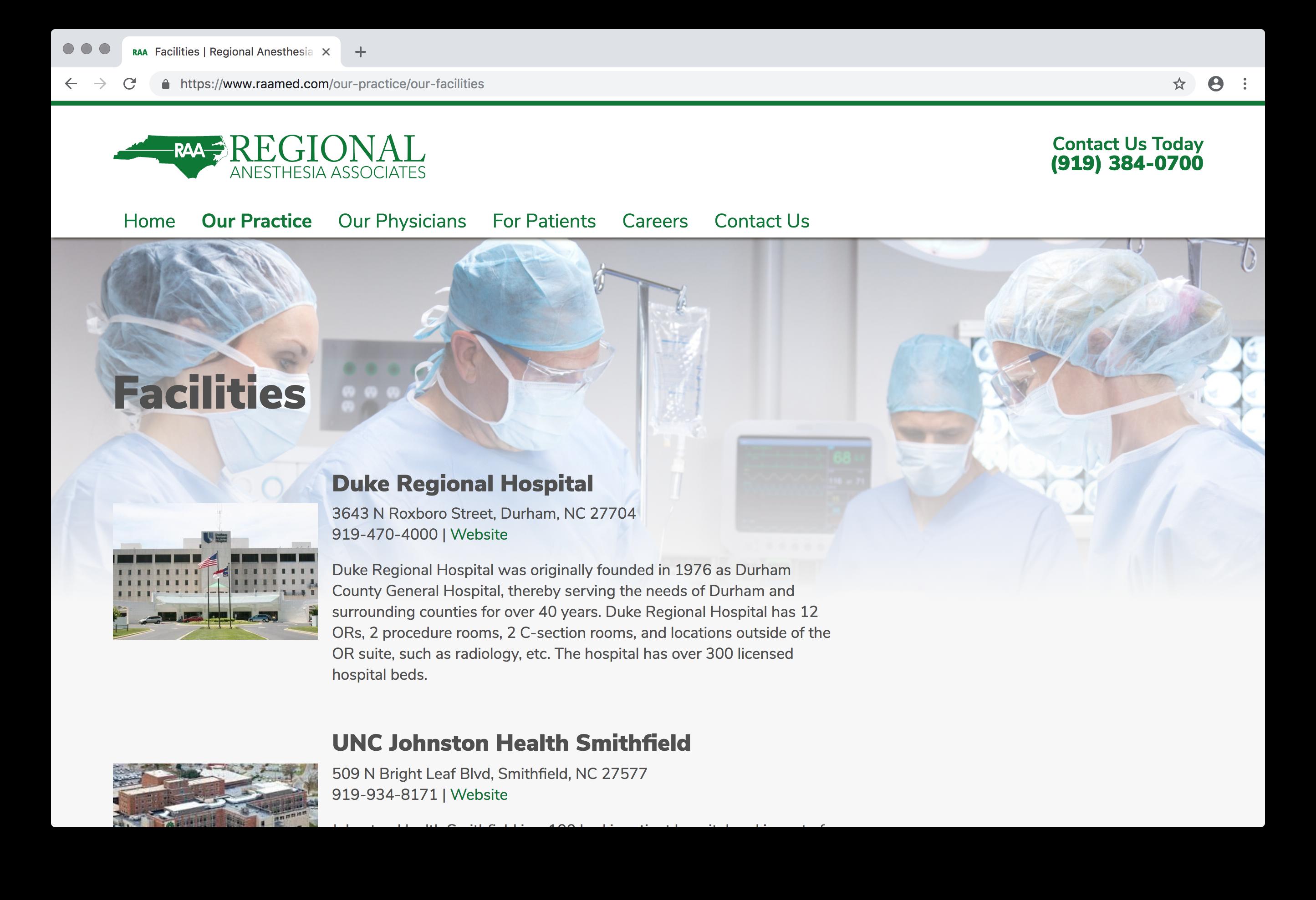 Regional Anesthesia Associates | Imp Designs, LLC